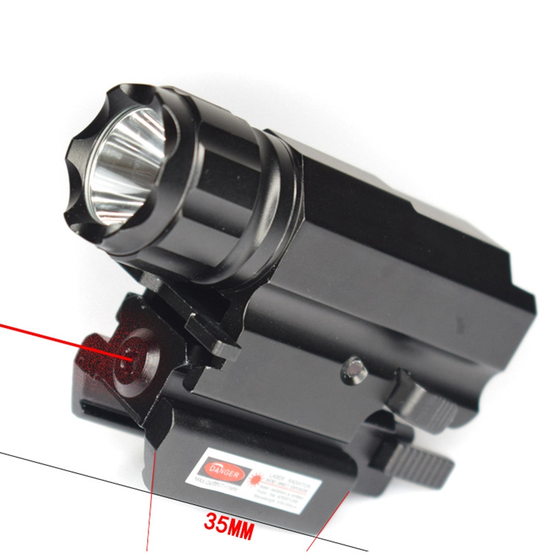 BestFire 800LM R5 LED Tactical Guide flashlight torch track hunting lamp