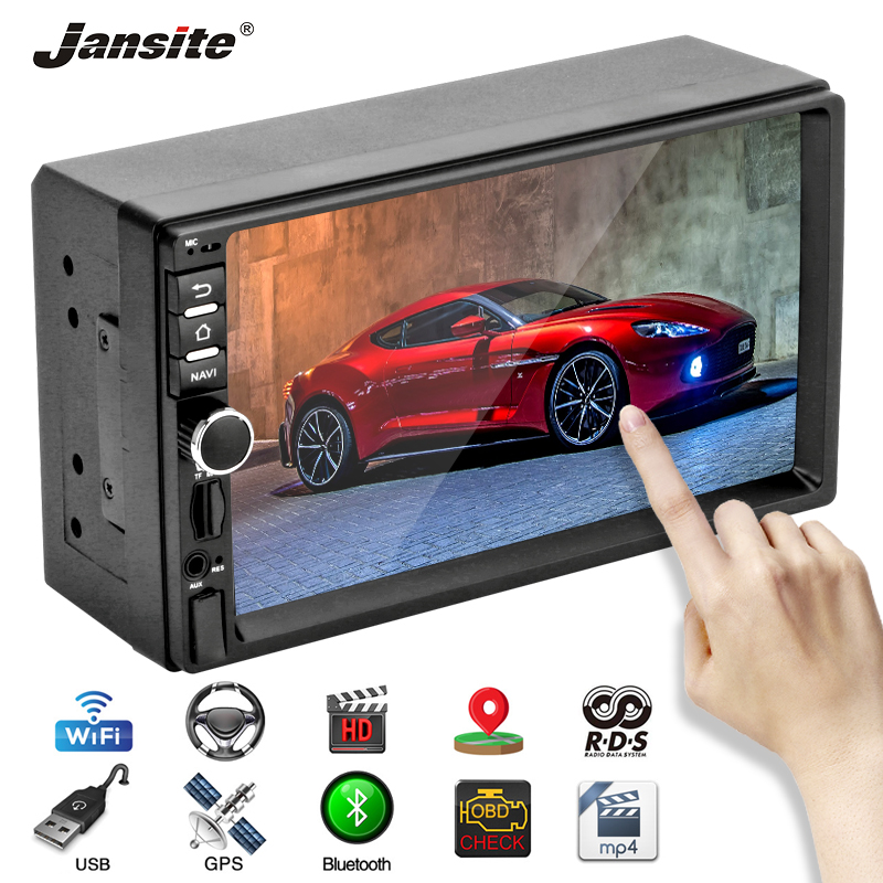 Jansite 7 quot 2 Din Car Radio Android 8 1 Touch Screen Player GPS Navigation Bluetooth U Disk radio Car Stereo with Backup camera in Car Multimedia Player from Automobiles amp Motorcycles