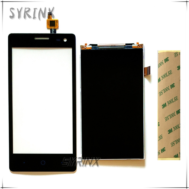 Syrinx + Tape Mobile Phone LCDs Touchscreen Sensor For ZTE Blade GF3 Touch Screen Digitizer Lcd Display Front Glass Panel Lens
