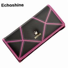 Women OL style Long Crown Leather Clutch Purse Handbag Wallet long leather ladies wallet female handbag purse