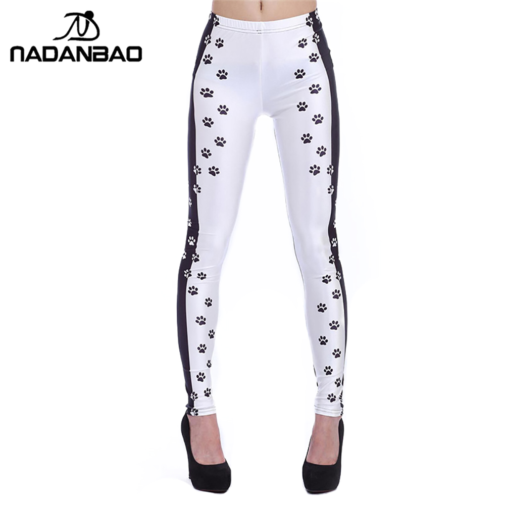 NADANBAO Spotted Dog 3d Digital Legins High Waist Elastic Leggins Printed Women Leggings Women pant