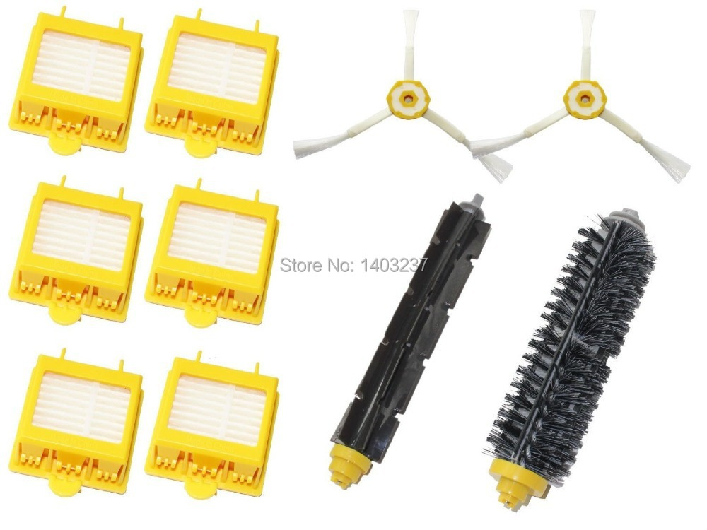 Vacuum Cleaner Accessory Filters 3-armed Flexible Beater Brush 1 Bristle Brush for iRobot Roomba 700 Series 760 770 780 flexible beater brush bristle brush for irobot roomba 500 600 700 series 550 630 650 660 760 770 780 790 vacuum cleaner parts
