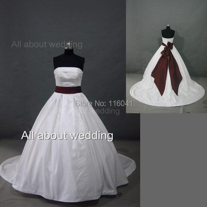 Ball Gown Strapless Taffeta Simple Wedding Dresses High