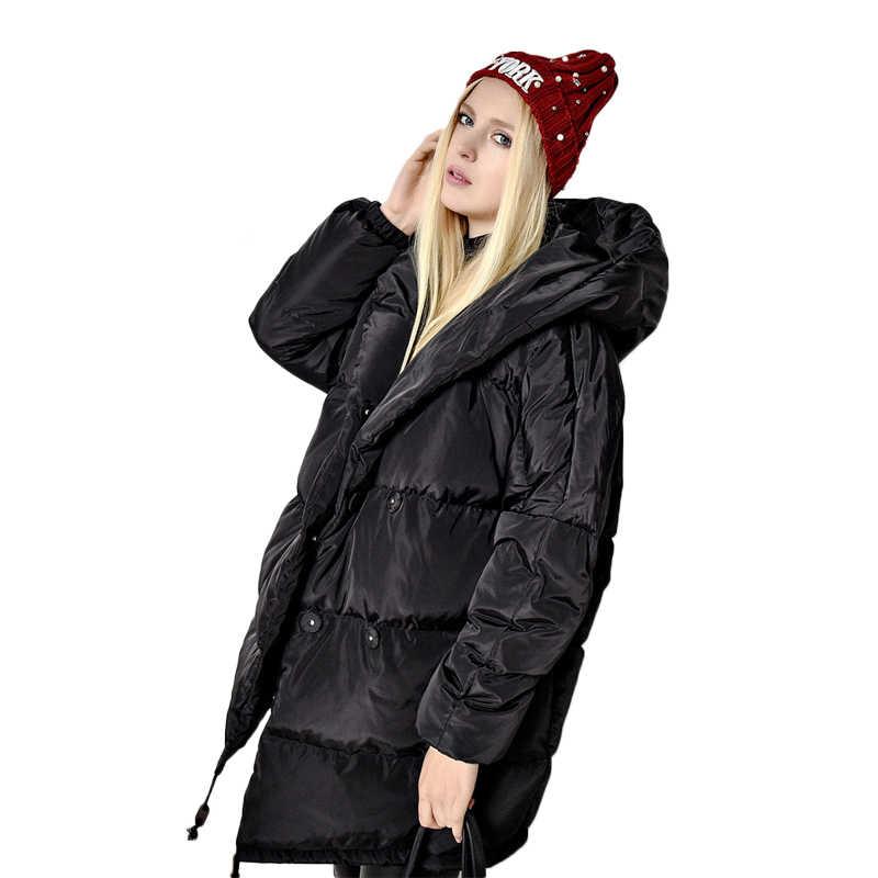 bce341764c375 ... Winter Jackets Women 90% White Duck Down Parkas Loose Fit Plus Size  Hooded Coats Medium ...