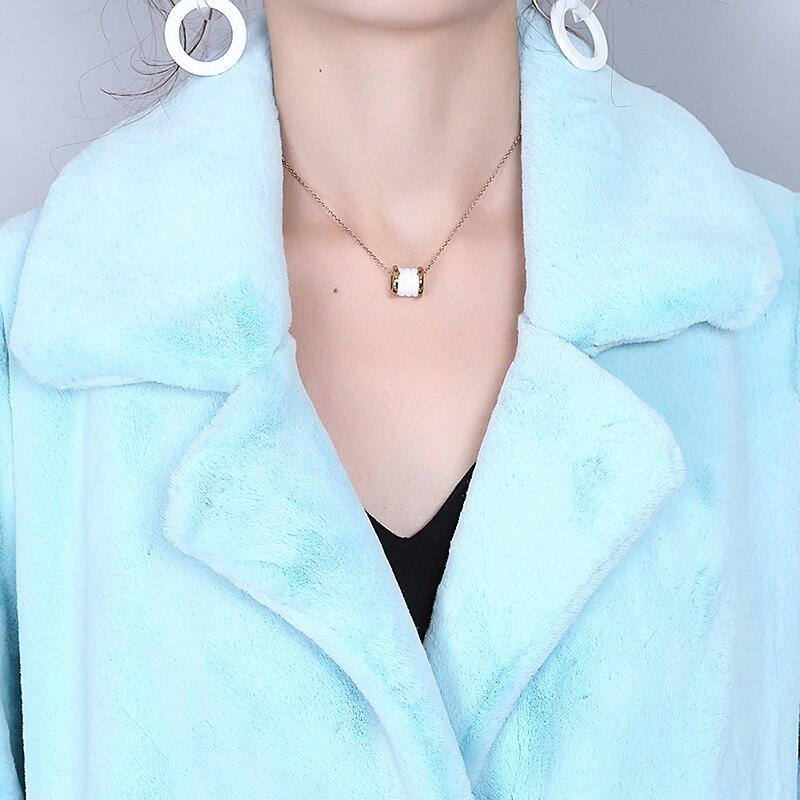 Nerazzurri Extra Long Winter Coat Women Elegant Warm Blue Colored Duster Outwear Female Plus Size Faux Fur Overcoat 5XL 6XL 7XL