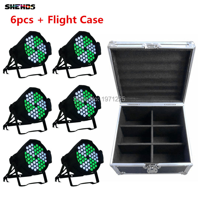 Flight Case with 3in1 rgb Led DMX 54x9W Par Can Windmill  Light Professional Par Can rgb Windmill for Party  Disco DJ Uplighing