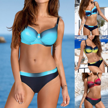 Womens Padded Push-up Bra Bikini Set Swimsuit Bathing Suit Swimwear Beachwear Swimsuit Bathing Swimwear