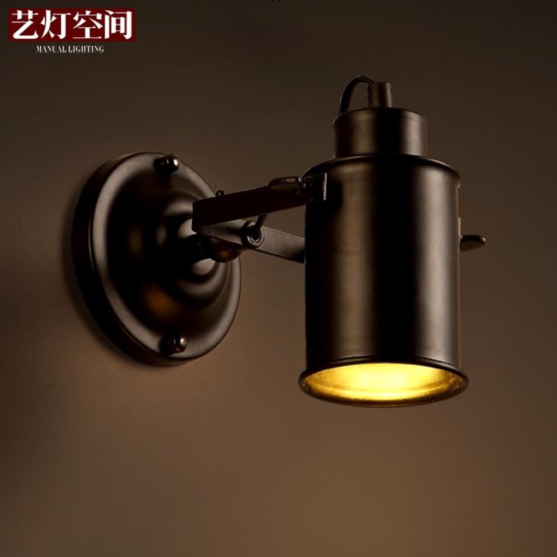 Loft Style Single Head Dining Room Wall Lamp Hotel Hallway Light American Country Bar Coffee Office Wall Lamp Free Shipping