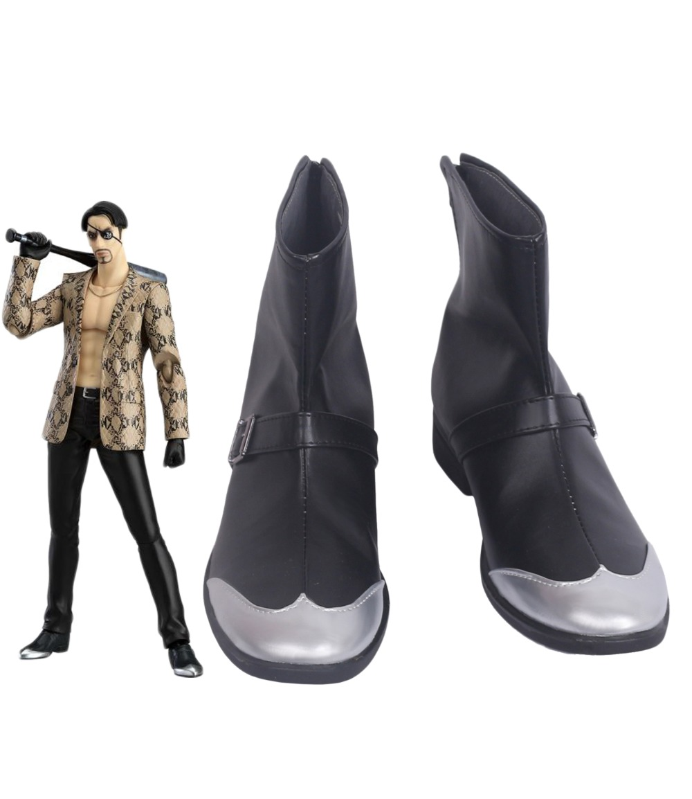 Yakuza Goro Majima Cosplay Boots Black Shoes Halloween Carnival Party Cosplay Custom Made