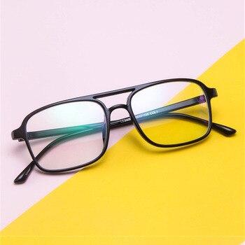 cee860e1a4 2019 montura de gafas Retro Para hombres y mujeres lentes transparentes con  estilo protección de ojos