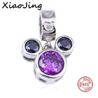 Hot Sale 925 Sterling Silver Summer Mickey Mouse Charms Bead Fit Original Pandora Bracelets Authentic Pendant