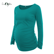 3 Piece Set Womens Pregnancy Tops Printing Spliced Long Sleeves Maternity Clothes Blouses T-Shirt Pregnant Flattering Women Tee