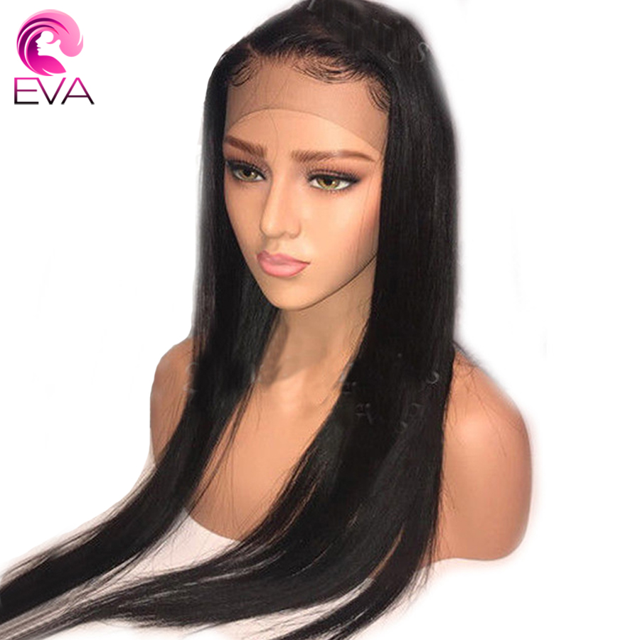 "Eva Hair 150% Density 360 Lace Frontal Wig Pre Plucked With Baby Hair 10""-24"" Straight Natural Color Brazilian Remy Hair Wigs"