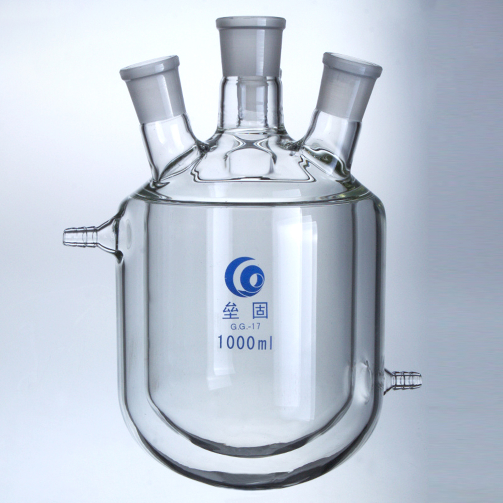 1000ml three mouthes 24/29 glass reactor heavy sheet glass reaction still reaction flask велосипед cube reaction hybrid race 500 29 2018