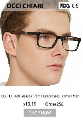 862fd5ebd6 OCCI CHIARI Men s Optical Glasses 2018 Fashion Black Rectangular Classic  Frame Demi Man Eye Glasses Frames Spring Hinge MELE