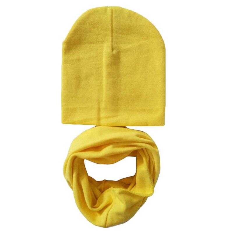 2 stks/set Lente Herfst Baby Hoed Sjaal Effen Kleur Caps Voor Jongens Meisjes Katoen Knit Kids Beanie Sjaals