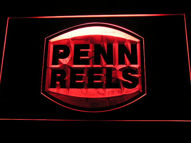 b198 Penn Reels <font><b>Fishing</b></font> Logo LED Neon Sign with On/Off Switch 20+ Colors 5 Sizes to choose