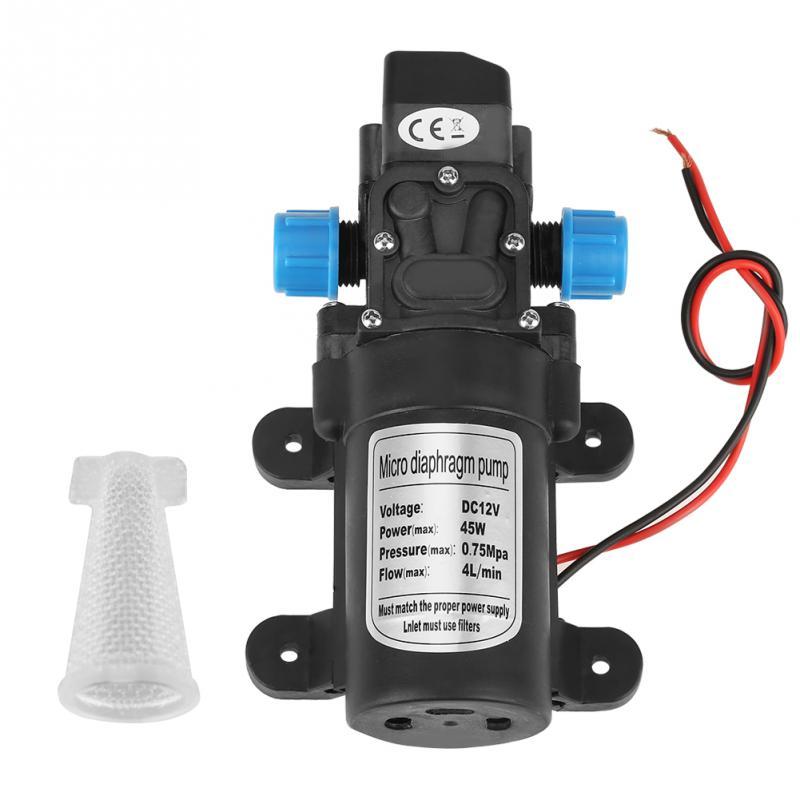 Dc 12 V 45 Watt Micro Membran Pumpe Wasser Selbst Pumpe Geräuscharm Landwirtschaftliche Elektrische Wasserpumpe 4l/ Min Durchfluss Schwarz Mit Filter Eine Hohe Bewunderung Gewinnen Pumpen