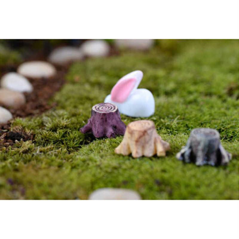 10 PCS Fairy Garden Tree Stump Miniature Figurines Resin Bonsai Micro Landscape DIY Crafts Fairy Garden Miniatures Decoration