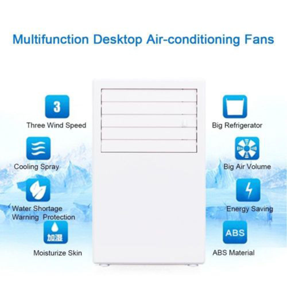 3 Gear Portable Desk Mini Air Conditioner Humidification Refrigeration Mist Spray Electric Cooling Fan Air Conditioning Cooler