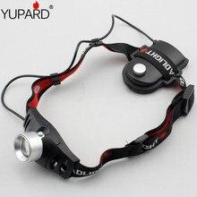 YUPARD Q5 светодиодный фары фара Масштабируемые налобный фонарь для кемпинга Пеший Туризм езда на велосипеде, альпинизм, элементов питания типа AAA