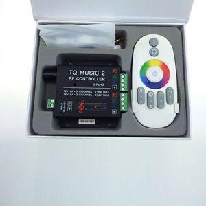 Image 2 - Commande Audio avec télécommande sans fil RF, musique pour bande LED LED de contrôle, 5050, 3528, 5630, 2 canaux RGB, DC 12 24V 18A