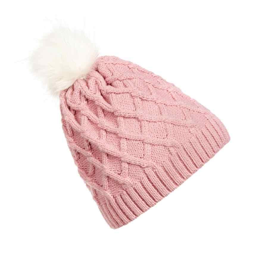 9f3b6545b4cb3 ... DOUDOULU winter hats for women knit hats Crochet Hat Fur Woolen Knit Beanie  Warm Caps cappello ...