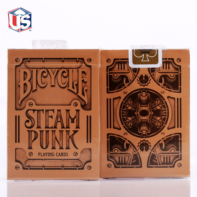 1pcs Bicycle Silver Steampunk Deck THEORY11 Magic Cards Playing Card Magic Props Close Up Magic Tricks for Professional Magician