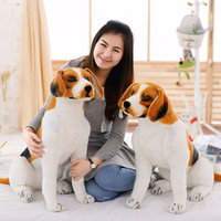 90cm Simulation Dog Plush Toys Doll Lying Squatting Sitting Posture Genuine Good Quality Lifelike Real Dog