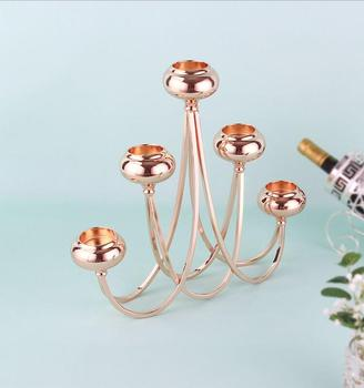 Europe gold color candle holder wedding decorations candlesticks metal dessert table candle holders for home decoration ZT149