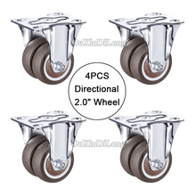 4PCS Double wheels directional casters,size 2.0inch/50mm super mute universal wheels,bear 55kg/pcs,For flower racks JF1676