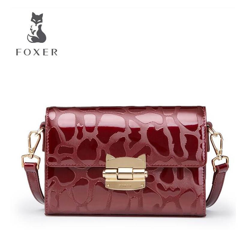 2018 New FOXER women leather bag fashion luxury small bags women handbags designer shoulder bag Handbags & Crossbody bags