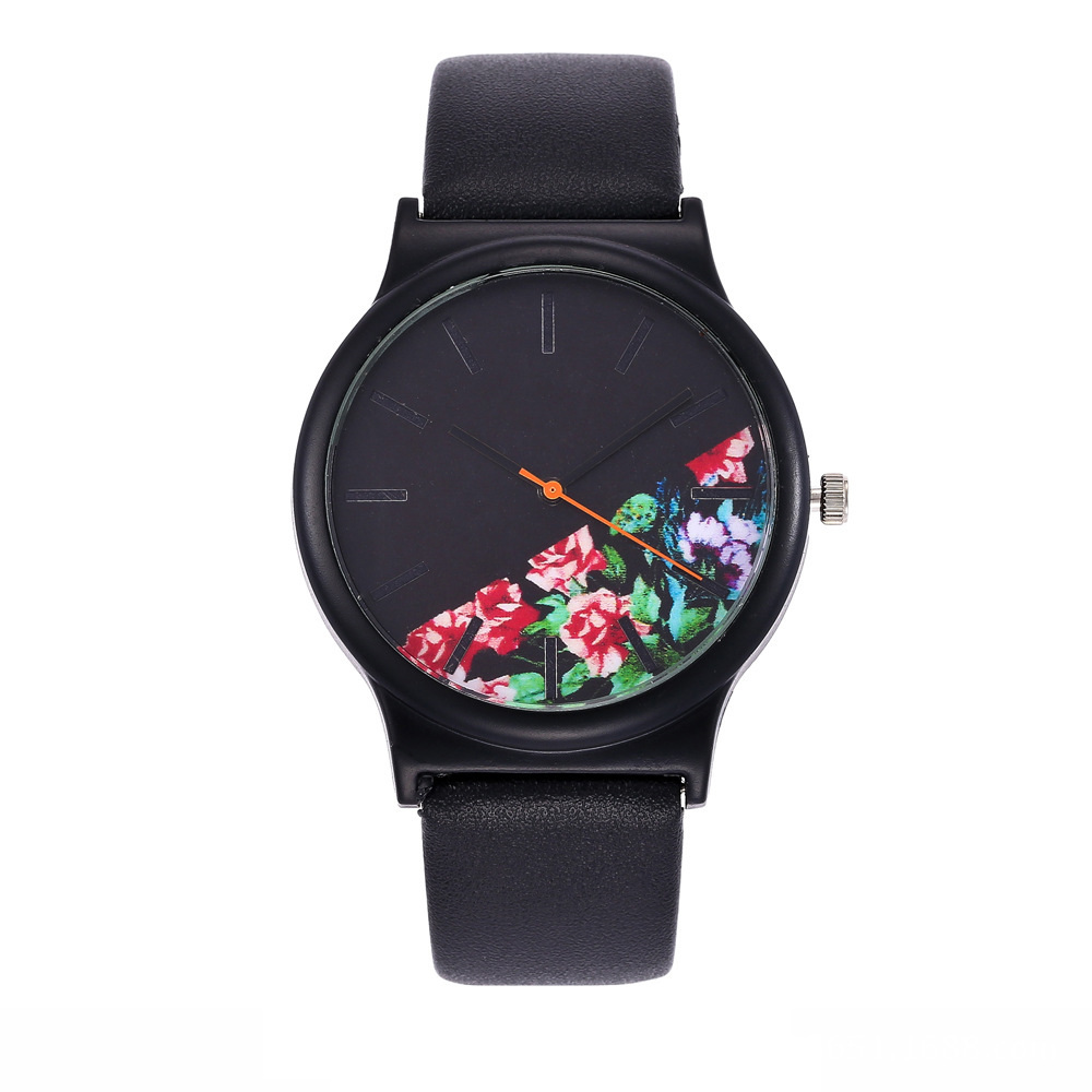 2018 Black Flower Watch Women Watches Ladies Brand Luxury Famous Female Clock Quartz Watch Wrist Relogio Feminino Montre Femme