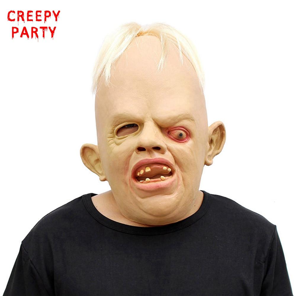 Scary einäugige Monster Party Maske Horror Erwachsene volles Gesicht realistische Latexmaske Halloween Maskerade Maske Cosplay Kostüm