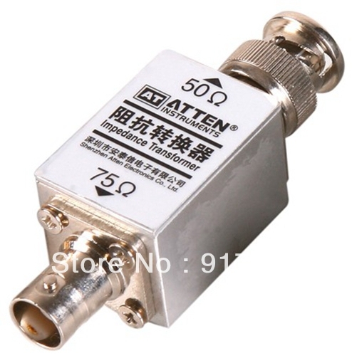 US $42 0 |RF High Frequency 1000M 1GHz Impedance Transformer Converter 50  75 Ohm 250mW BNC Connector AT8081-in Instrument Parts & Accessories from