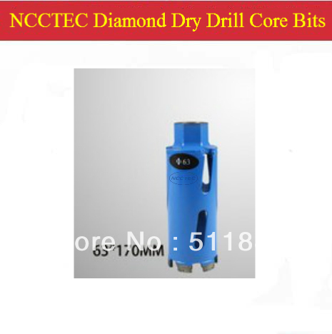 63mm*170mm Diamond DRY Drill Core Bits FREE shipping | 2.5'' floor wall coring tools crowns kits | DRY drill without water