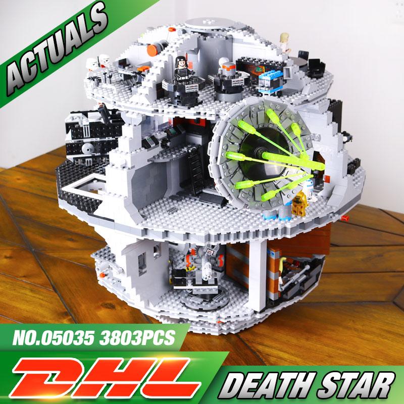 Free Shipping font b LEPIN b font 05035 Star Wars Death Star 3804pcs Building Block Bricks