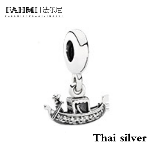FAHMI 100% 925 Sterling Silver Elegant Vintage Gondola Dangle Charm Collection Limited Original Women's Jewelry