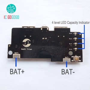 Image 2 - 5V 1A 2A Power Bank Charger Module Step Up Boost Power Supply Charging PCB Circuit Board DIY Dual USB Output LED Powerbank
