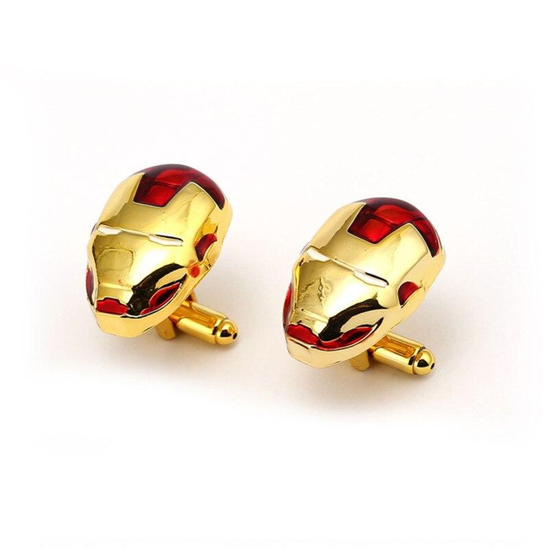 10pairs/lot Wholesale Iron Man Cufflink Mens Ironman Jewelry Movies Avengers 3 Infinity War Cuff Link French Shirt Sleeve Button