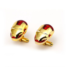 10pairs/lot Wholesale Iron Man Cufflink Mens Ironman Jewelry Movies Avengers 3 Infinity War Cuff Link French Shirt Sleeve Button