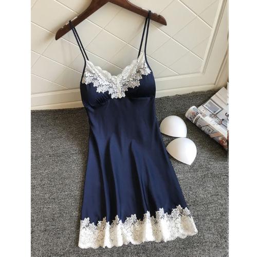Sexy Lingerie Silk Robe Dress Women's Nightdress Nightgown Sleepwear Summer Nightwear
