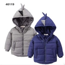 2016 new arrival children coat kids jacket boys outerwear child trench dinosaur cartoon colourful clothing baby kids clothes