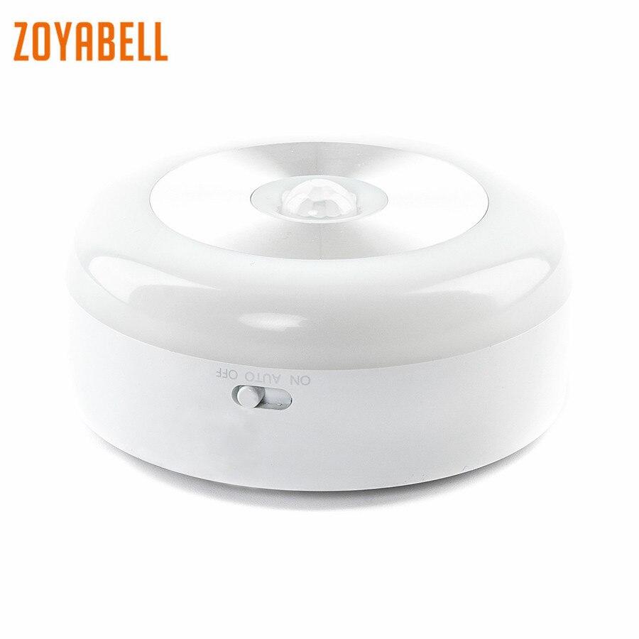 Zoyabell Intelligente Luce di Notte del Sensore di Movimento Attivato Alimentato A Batteria Bambino Dorme Casa WC Wc Camera Da Letto Bagno Cucina Luci