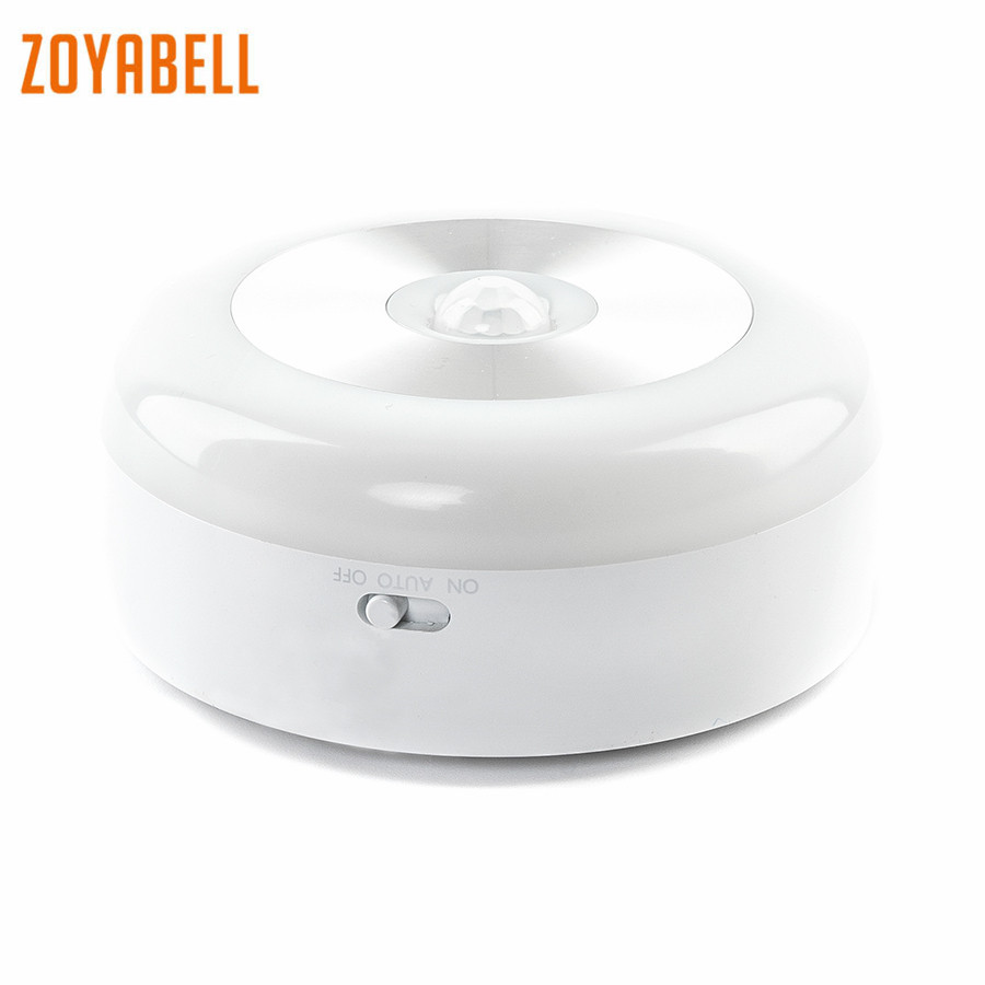 zoyabell Smart Night Light Motion Sensor Activated Battery Powered Baby Sleeping Home WC Bedroom Toilet Bathroom Kitchen Lights