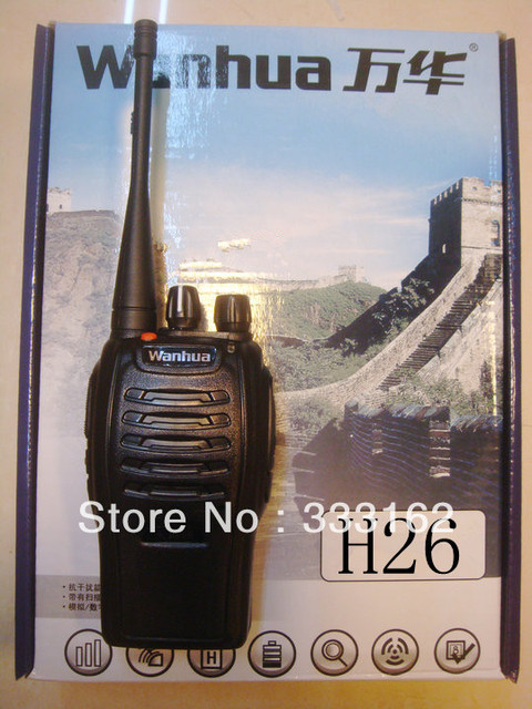 H26 Free Shipping Classic Design Handheld Two Way Radio 400-470MHz 16Channels Voice Report And Strong Interference Ham Intercom