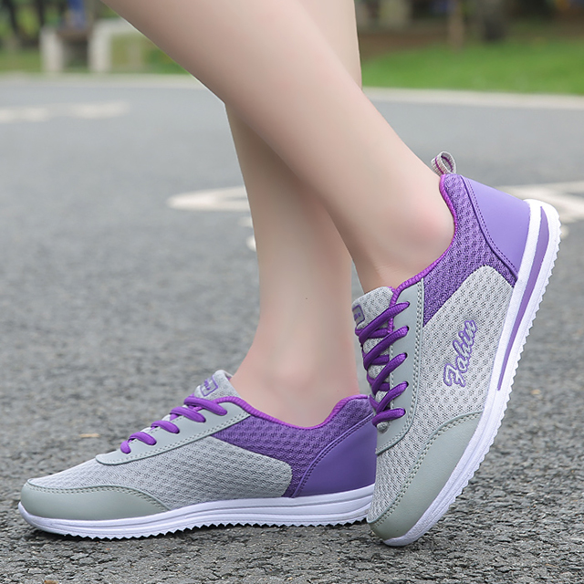 Women Casual Shoes Summer Comfortable Breathable Mesh Flats 2018 Fashion Women Shoes Female Platform Shoes Woman sneakers tesilixiezi new spring summer fashion candy color bling flats platform shoes wegde breathable women casual shoes footwear