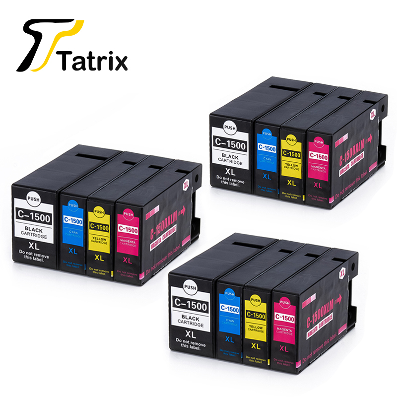 3Sets 12PCS For Canon 1500XL PGI-1500XL Ink Cartridge For Canon MAXIFY MB2050/MB2350