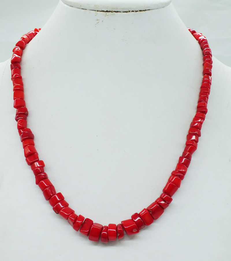 Free Shipping. Valentine's Day Gift Classic red Free shape coral necklace 20