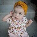 2016 Moda 10 pçs/lote Crianças Boemia Malha Headwrap Crianças Tricô de lã de crochê headband do turbante aquecedores de orelha para o Bebê Grils